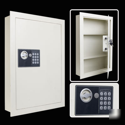Keyless Electronic Digital Wall Safe Home Security Flat