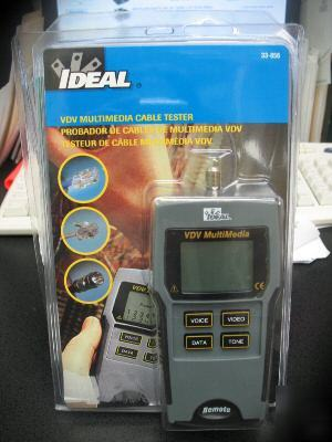 New Ideal 33 856 Vdv Multimedia Cable Tester Brand