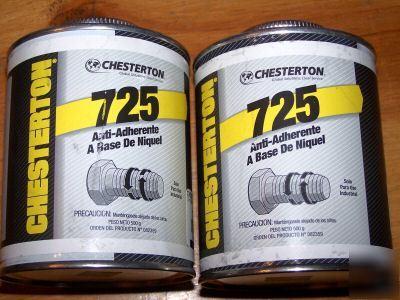 2 Cans Chesterton 725 Nickel Anti Seize Compound Lube