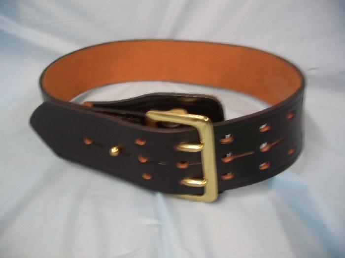 new jaypee sam brown duty belt 32 quot black leather brass
