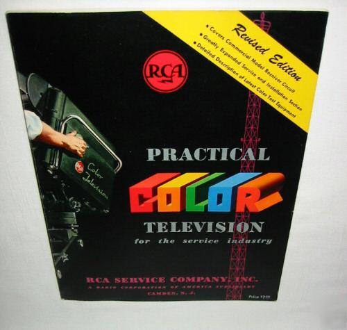 Vintage 1954 Rca Television Color Tv Service Manuals