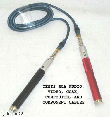 New Coaxial Rca A V Cable Tester Toner Signal Tracker