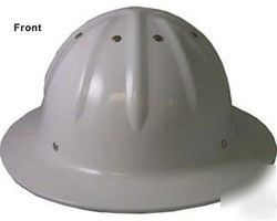 New skullbucket aluminum full brim hardhat hard hat whi